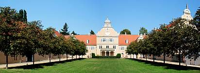 Jagdschloss Kranichstein, Darmstadt, Hessen, Panorama